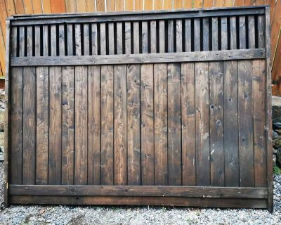 6ft x 8ft stained wooden fence panels