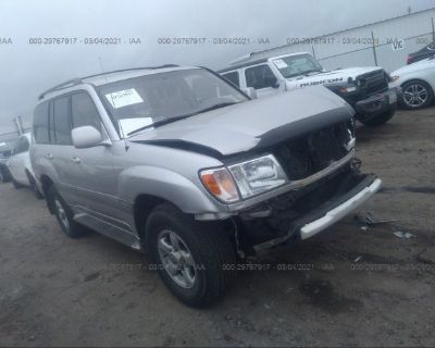 Salvage Silver 2000 Toyota Land Cruiser