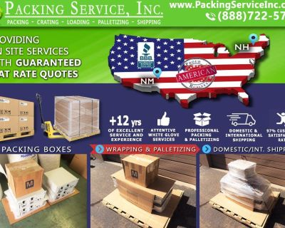 Packing Service, Inc. Flat Rate Shipping Quotes and Palletizing Furniture - Albuquerque, New Mexico