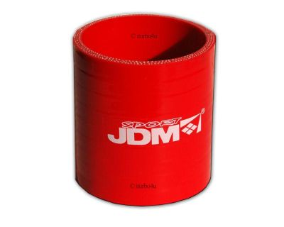 """One Jdm 2.5"""" Red Straight Silicone Hose With 4-ply Reinforcement Emusa Racing"""