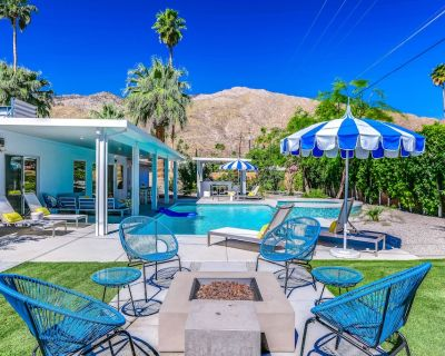 Fun mid-century modern home with private pool, spa, firepit, & gas grill - Tahquitz River Estates