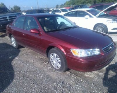Salvage Red 2001 Toyota Camry