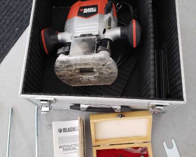 Black and decker router with bits