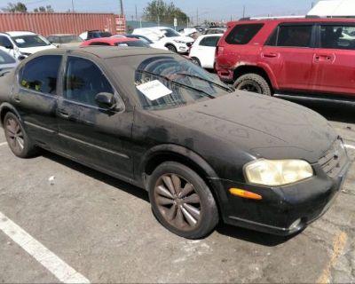Salvage Black 2000 Nissan Maxima