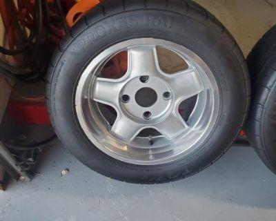 15X7/8 Revolution RFX Wheels 4x130