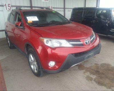 Salvage Red 2014 Toyota Rav4