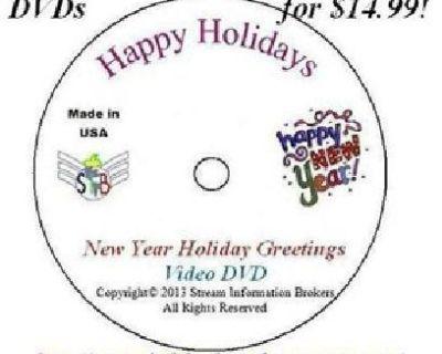 Best Original Holidays Video Greetings DVDs in Mfg Packaging