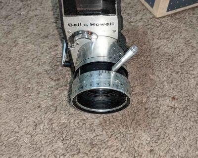 Vintage bell and Howell movie camera
