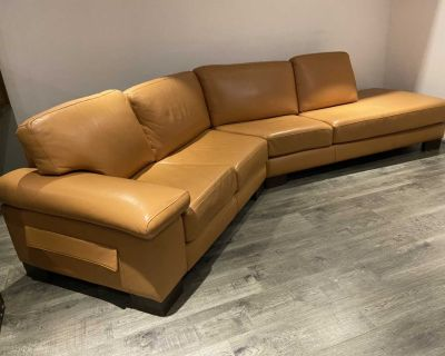 Premium leather sectional