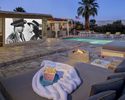 Architectural Digest Featured Estate Offers Movie Nights Under The Desert Stars! - Little Tuscany