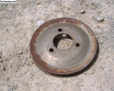 "VW Rabbit water pump pulley 5-3/8"" wide"