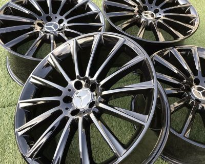 20 S63 AMG Mercedes Rims Wheels Gloss Black Fits S550 S400 S560 Models -OEM Factory-
