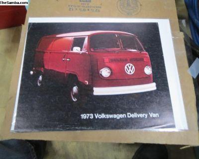 Rare 1973 Panel/ Delivery Van Brochure