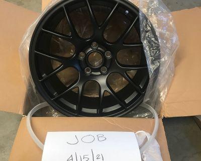 """$1150 OBO (4)18""""x 10"""" Apex EC-7 Wheels Satin Black"""