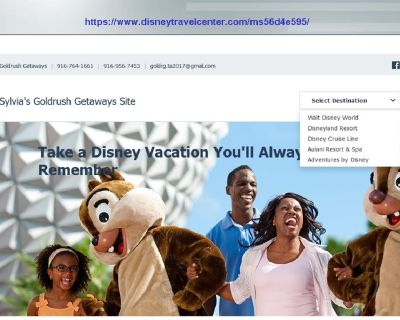 Family Disney Vacation with Your Own Destination!