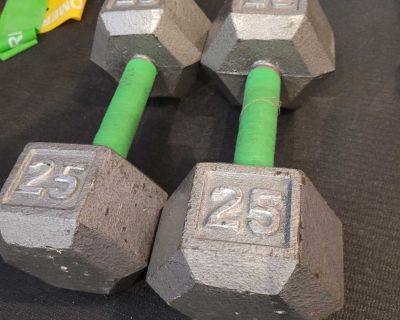 25 lbs dumbbells weights poids alt res