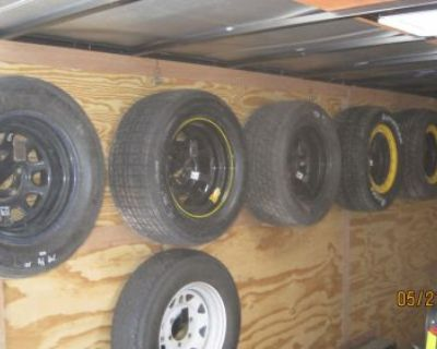 Tire Rack Car Brackets Asphalt Dirt Modified Street Stock Late Model Sportman