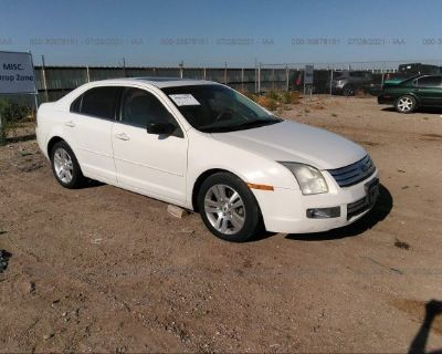 Salvage White 2009 Ford Fusion