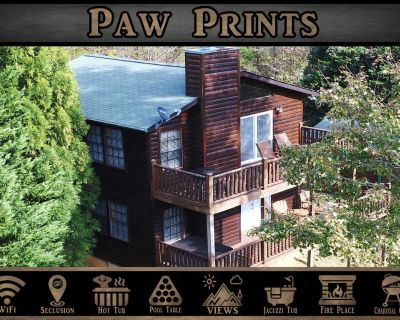 Paw Prints - Secluded / Mtn View / Hot Tub / Pool Table / Bunk Bed - Sevierville