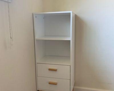 dresser, nearly new, white bookshelf