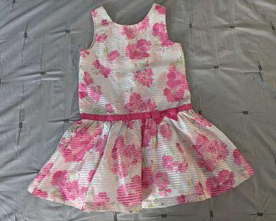 Gymboree Sleeveless Organza Floral Dress Size 7
