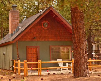 Walk to Snow Play! Posh & romantic w/fireplace, fenced yard, kitchen, dogs ok - Big Bear City