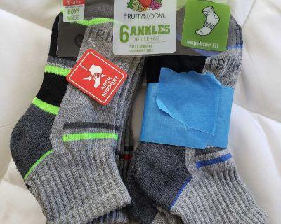 Boys Fruit of the Loom Ankle Socks