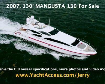 2007, 130' MANGUSTA 130 Motor Yacht