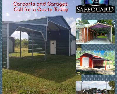 We build metal carports, buildings and garages.