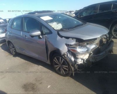 Salvage Silver 2017 Honda Fit
