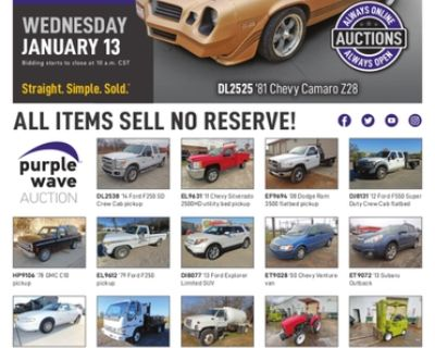 January 13 vehicles and equipment auction