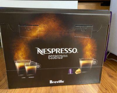 New Nespresso essenza mini coffee machine