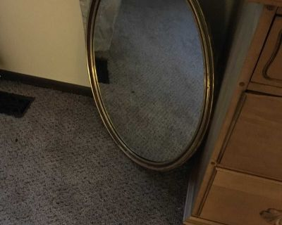 Large oval mirror