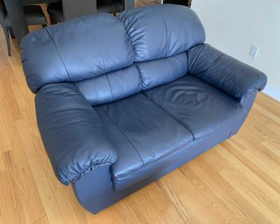 LEATHER LOVE SEAT, COUCH, SOFA