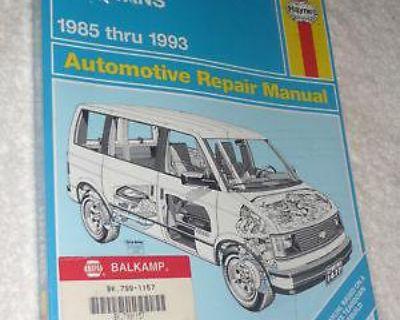 Haynes Chevrolet Astro Gmc Safari Mini-vans 1985 Thru 1993 Repair Manual