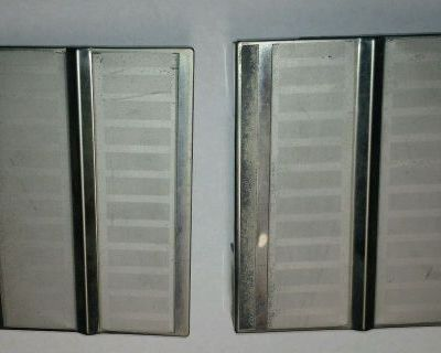 1963 Lincoln Convertible Rear Grille Trim Hinge Covers Left & Right