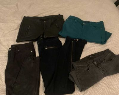 Assortment of women s designer pants and jeans