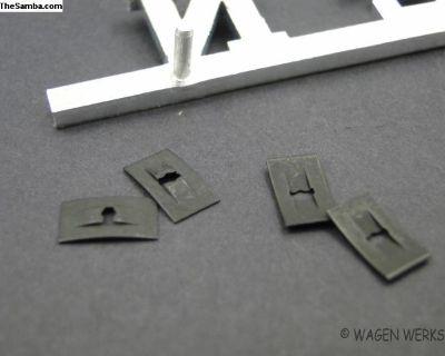 Rear Volkswagen Script Clips - Type 2 1968 to 1972