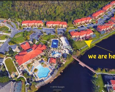 Just 50ft from clubhouse & pool *FREE WIFI* HOT TUB *LAKEVIEW*SOUTHFACING* - Kissimmee
