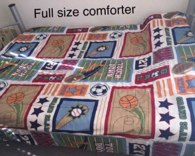 8-piece FULL Size Sports-Themed Bedding Set!