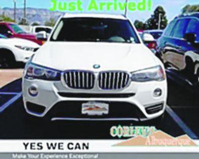 BMW 2017 X3 Sdrive28i, Automatic, Rear Wheel Drive, 8 Speed, 75k miles, Stock #V8091A...