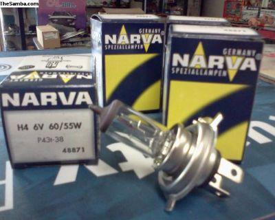 NOS NARVA 6 Volt Halogen H-4 Headlight Bulb