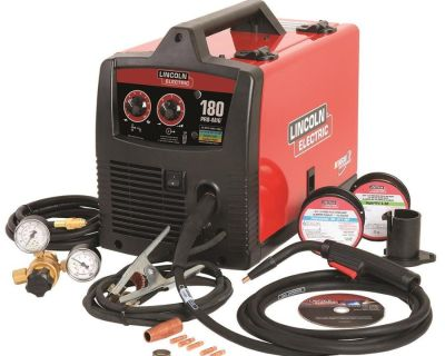 Brand New Lincoln Electric PRO-MIG 180 Welder 230-Volt MIG Flux-Cored Wire Feed
