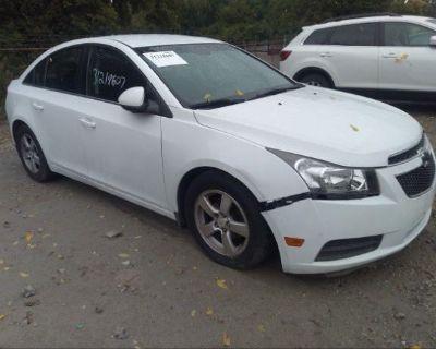 Salvage White 2012 Chevrolet Cruze