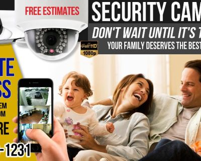 SECURE YOUR HOME OR BUSINESS WITH SECURITY CAMERAS !!