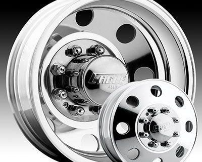 """19.5"""" New Eagle Dually Wheels And Tires 8x6.5 Chevy 3500 Or Dodge 0569 Style"""