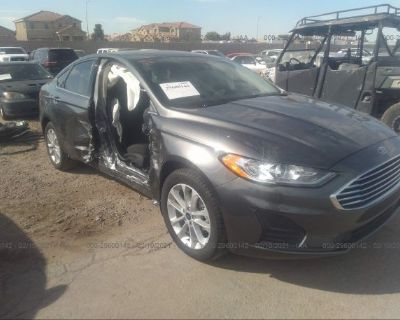 Salvage Black 2020 Ford Fusion