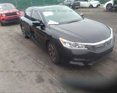Salvage Black 2017 Honda Accord Sedan