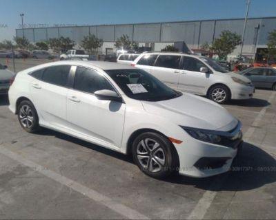 Salvage White 2018 Honda Civic Sedan