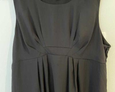 Black silk elegant maternity dress - size M